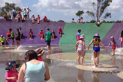 Water Play Area At Blaxland Riverside Park Sydney