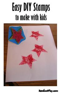 Easy DIY stamps for kids Barefoot Play