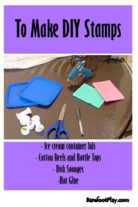 Easy DIY stamps for kids materials needed