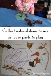 Natural items for play when you don't have a backyard Barefoot Play